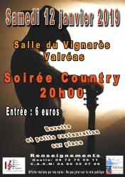 Soiree 12 janvier 2019 country